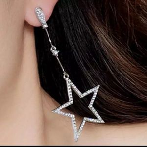 New Silver Temperament Wild Long Five-pointed Star